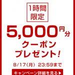 今グラムールセールスでお買い物すると5,000円分クーポンプレゼント!