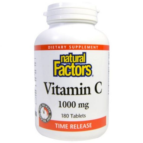 Natural Factors, Vitamin C, Time Release, 1000 mg, 180 Tablets 製造元 Natural Factors